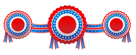 ribbon: Fourth of July banner