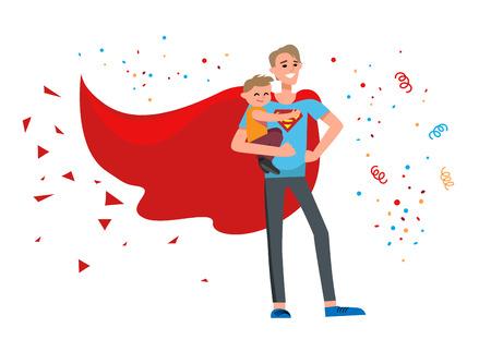 baby: Happy super hero dad