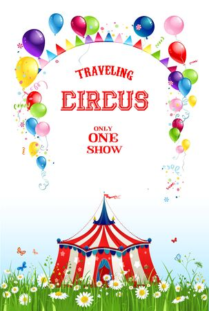Summer travelling circus Stock Photo