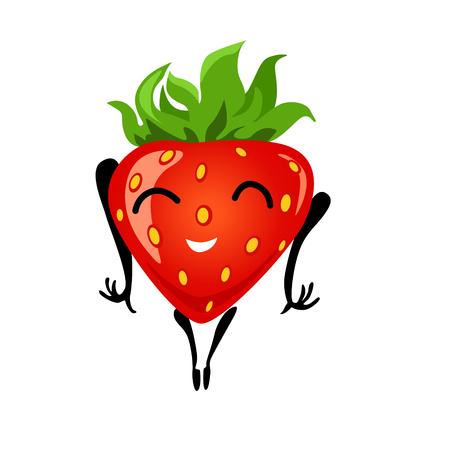 Strawberry cartoon girl Illustration