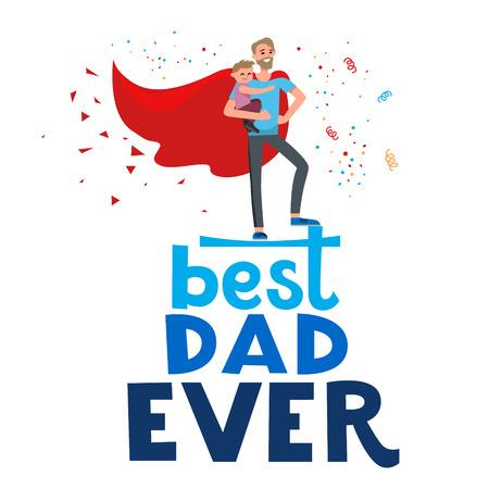baby: Superhero super dad Illustration