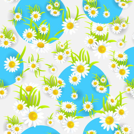 holiday background: Daisy seamless pattern Illustration