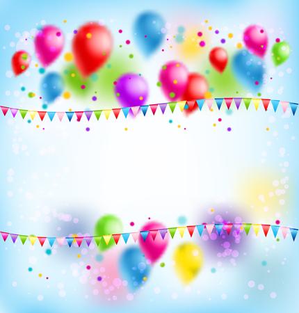 birthday party: Balloons holiday card