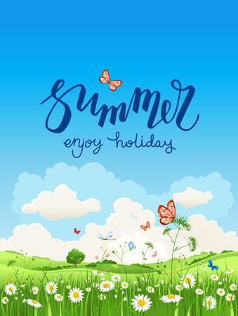 arbol de pascua: Disfruta del tiempo de verano Vectores