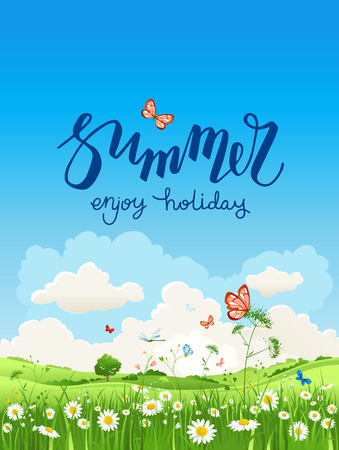 green environment: Enjoy summer time Illustration