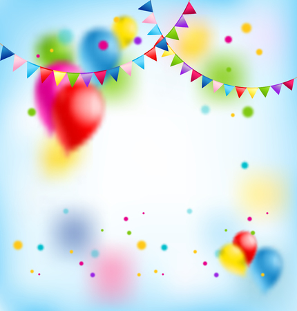 event party: Flags and balloons Illustration