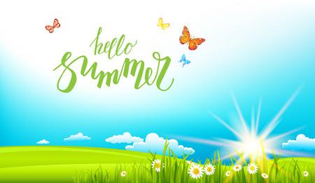 summer sunny banner Illustration