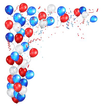 Corner festive color balloons