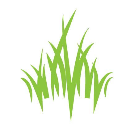 Eco logo grass icon Vettoriali