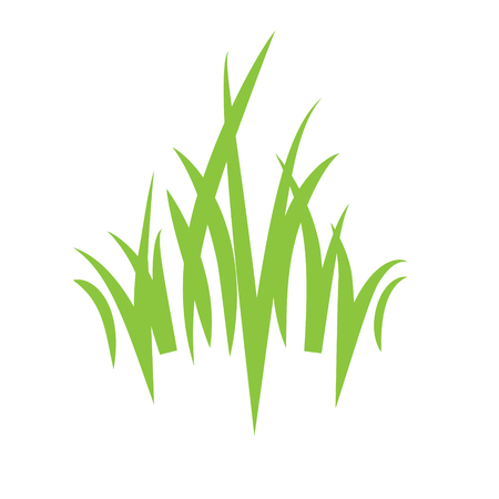 Eco logo grass icon Illustration
