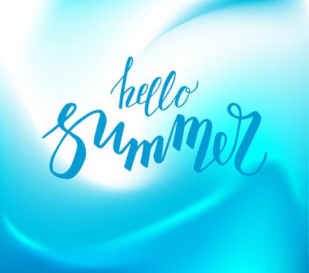 Hello summer lettering Illustration