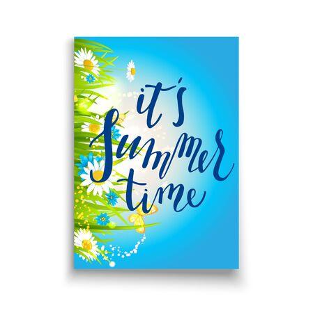 Hello summer template Stock Photo