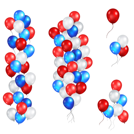 Festive color balloons set