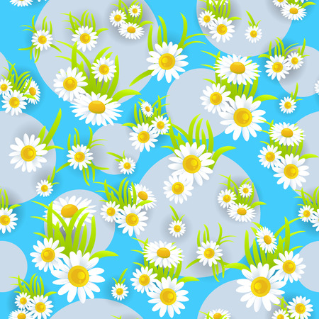 green environment: Floral seamless pattern