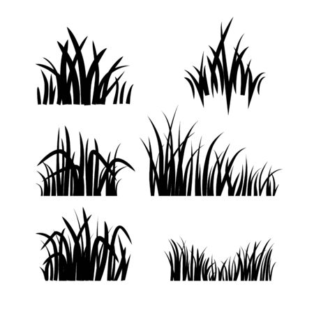 green environment: A logo grass set Illustration