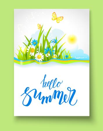 graphic: Summer bright motif