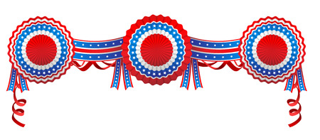 ribbon: Blue and red decoration Illustration