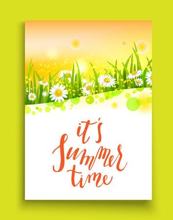 Summer bright motif