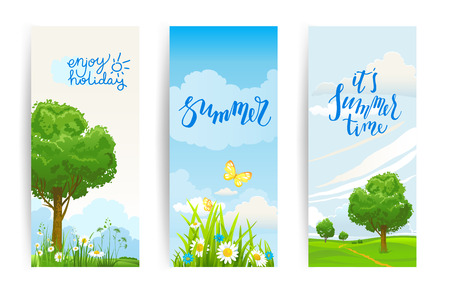 Nature season banners