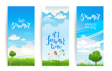 Summer nature banners