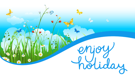 web: Sunny season banner Illustration