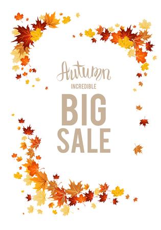 fall leaves: Big fall sale elements