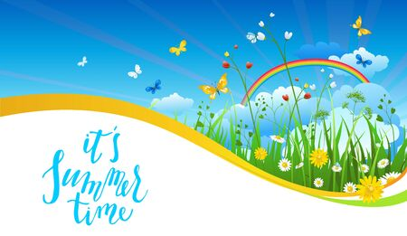 creative: Blue sky season banner