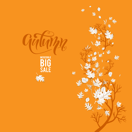 Autumn yellow leaves sale Illustration
