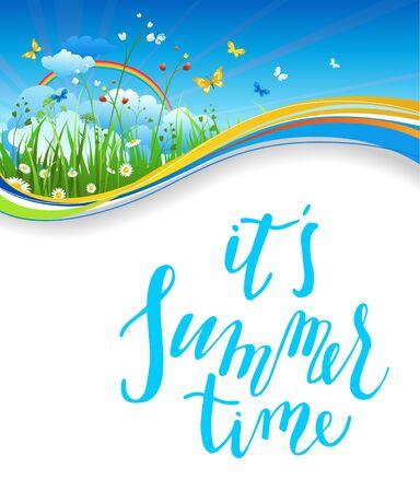 Summer nature card Stock Photo