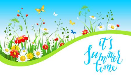 Sunny summer banner Stock Photo