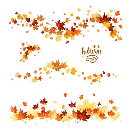 symbols: Fall leaves set