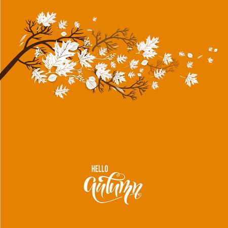 Autumn orange branch image