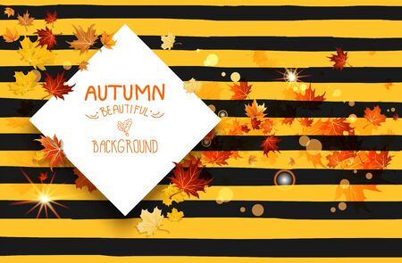 Fall striped card Illustration