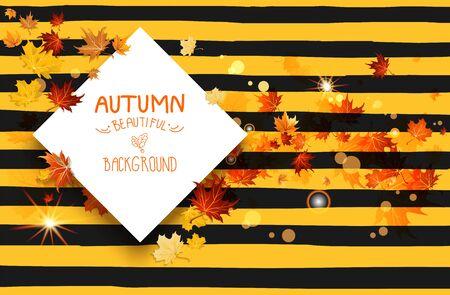 rusty: Tarjeta rayada de otoño