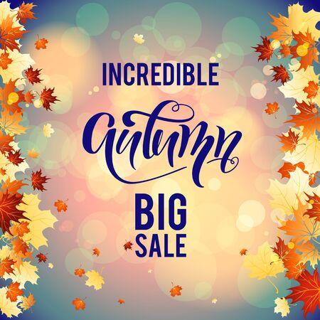 autumn background: September big sale