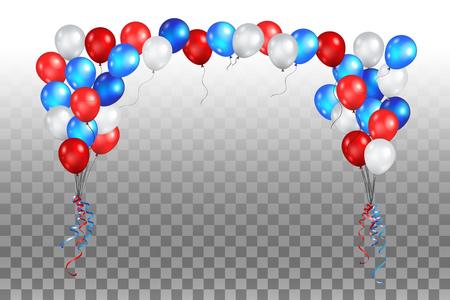Festive balls on a transparent background vector illustration.
