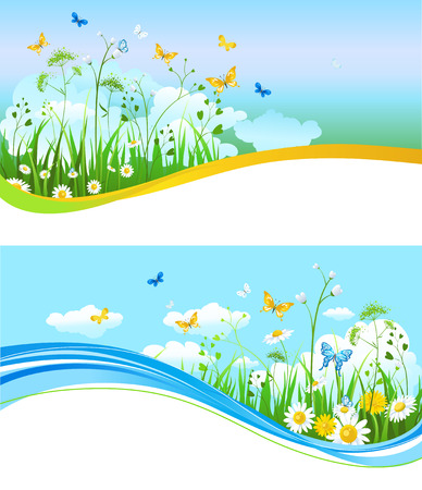 Nature summer banners