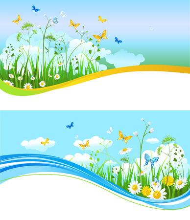 rainbow: Nature summer banners