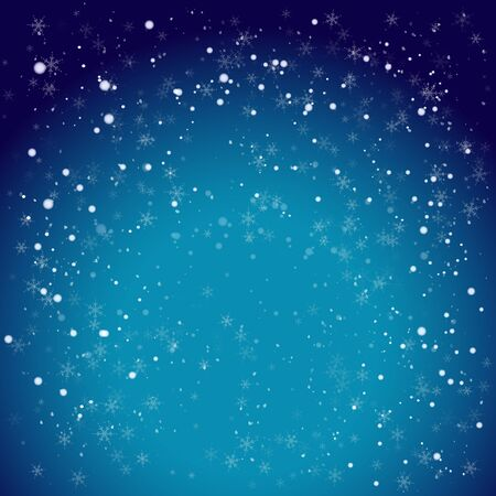 new: Blue winter holiday background