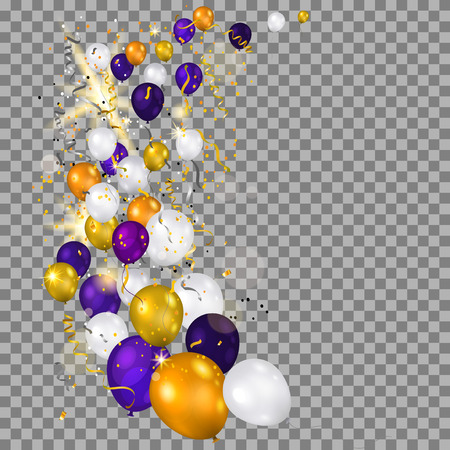 christmas backdrop: Balloons on transparent background
