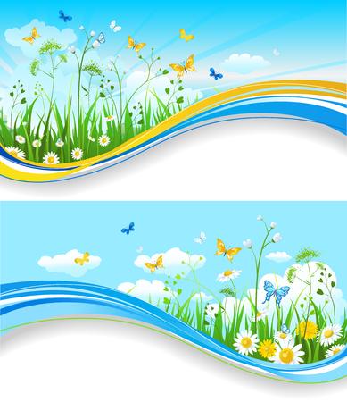 Summer set banners