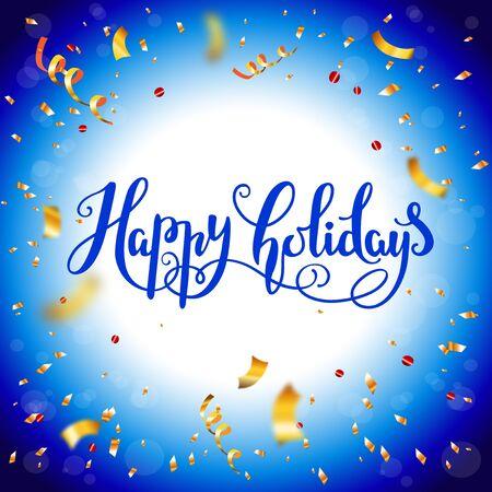 Blue Happy holiday