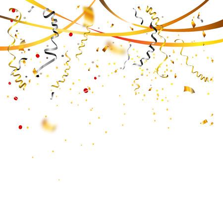black: Confetti holiday background