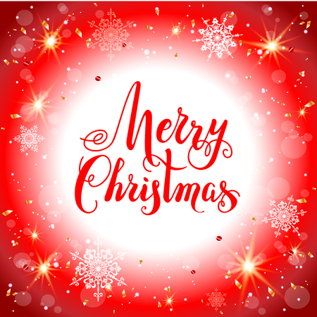 Red holiday background merry christmas