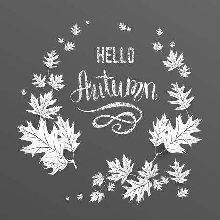 black: wreath fall card
