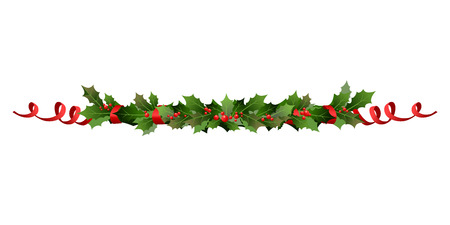 Christmas holiday line Vectores