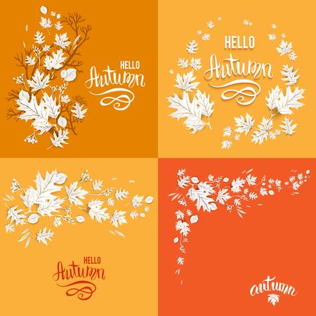 Orange fall card set