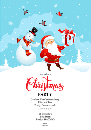 Santa card winter party