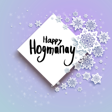 card Happy Hogmanay