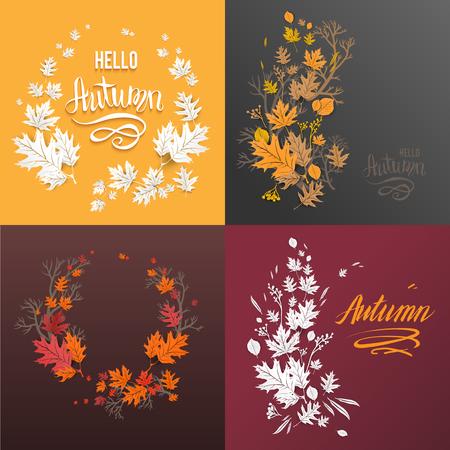 Orange fall set
